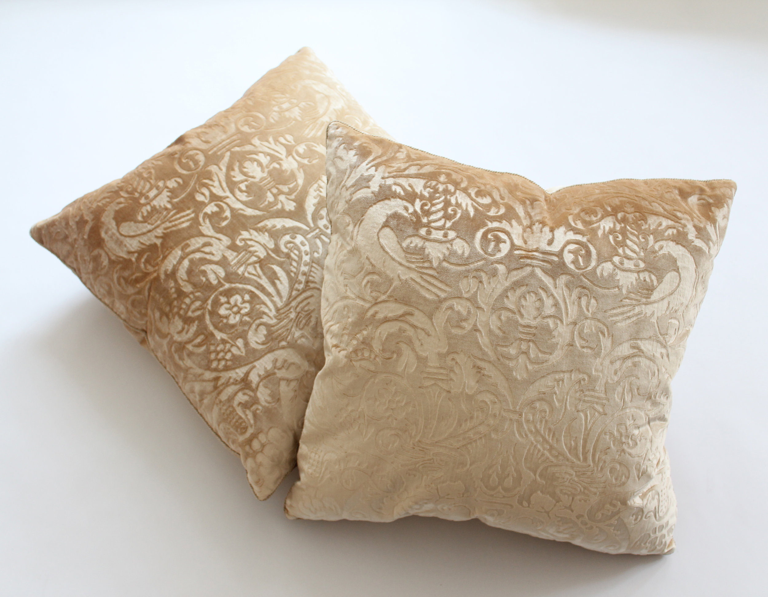 """Como"" Gauffrage on silk velvet Retail Price $1600.00 (pair)"