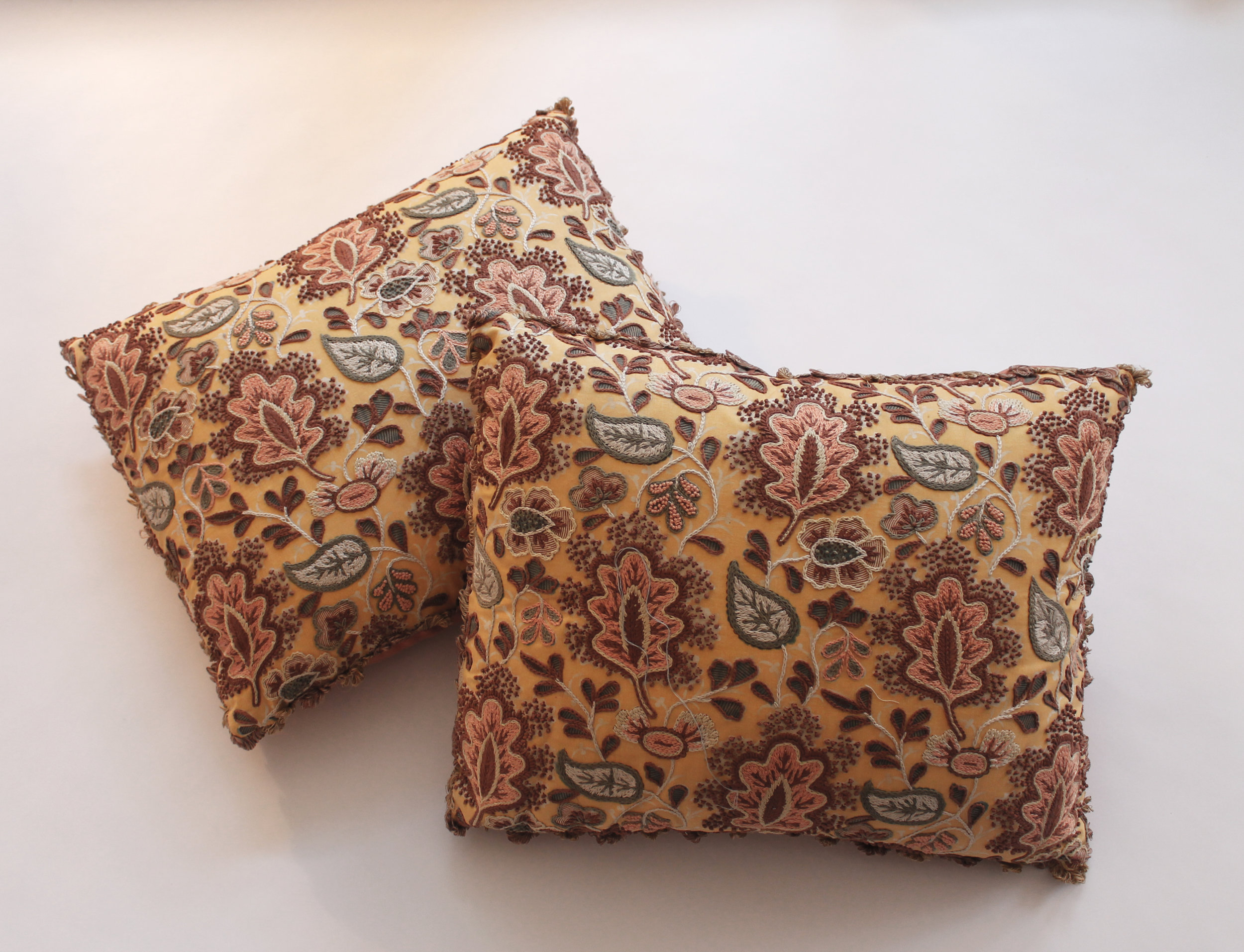 Embroidered Claremont fabric with French Knots  Retail Price $1500.00 (pair)