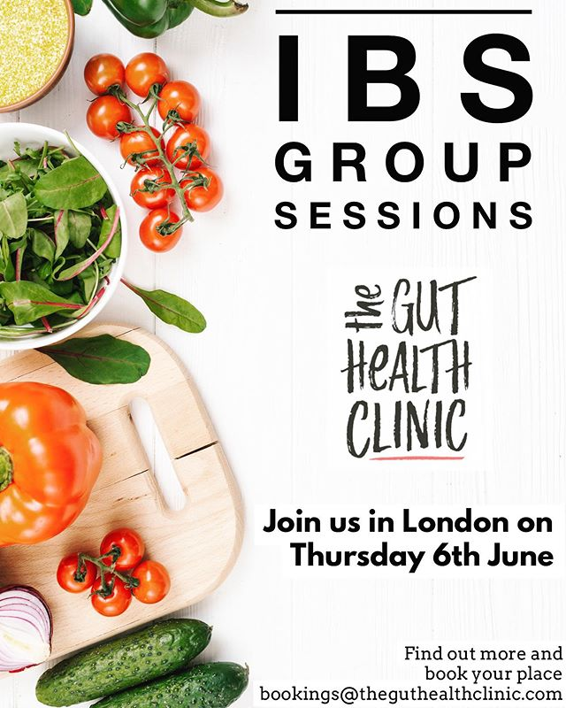 IBS GROUP SESSIONS AT THE CLINIC 💚 If you're suffering from IBS and want to learn more about hot topics from low FODMAP diet to mindfulness, this is for you! 👉 🙌 With IBS affecting up to 1 in 5 people in the UK, we're excited to host group sessions at The Gut Health Clinic to bring you practical science-based and easy to digest support for managing the symptoms. .... 👩‍⚕️I know it's not always possible to see a dietitian one-to-one, so with our group sessions I hope we can spread the science and enable more people to make informed decisions about their health! .... 🔬When I opened The Gut Health Clinic, my mission was to make an evidence-based approach using the latest research more accessible, cutting through the misinformation and pseudoscience out there. A jargon-free zone and only the good type of 💩 chat! .... WHAT WE'LL COVER: ✅ Gain evidence-based dietary advice and mindfulness strategies from experienced gut specialist registered dietitians ✅ Learn the principles of the low FODMAP diet and lifestyle strategies ✅ Get practical tips on how to implement these into your daily life ✅ Receive essential support and guidance to reduce the negative impact of the low FODMAP diet on your gut bacteria ✅ Meet others who face similar struggles and share support .... 🙋‍♀️ The first session will be kicking off in 2 weeks! Spaces are limited, so to find out more and book a place, get in touch using the info below and we'll come back to confirm .... ⏰ WHEN:  Initial session: Thurs 6th June, 6-8.30pm Follow-up session: Thurs 18th July, 6-7.30pm 🌍 WHERE: The Gut Health Clinic, Harley Steeet Precinct, London 📧 BOOK: bookings@theguthealthclinic.com 👥 15 places per session 👀 Watch this space for more coming soon. And remember, if you would like more personalised advice (as we won't be able to provide this in a group setting), private consultations at the clinic are available too 👍  #guthealth #IBS #spreadthescience #fodmap