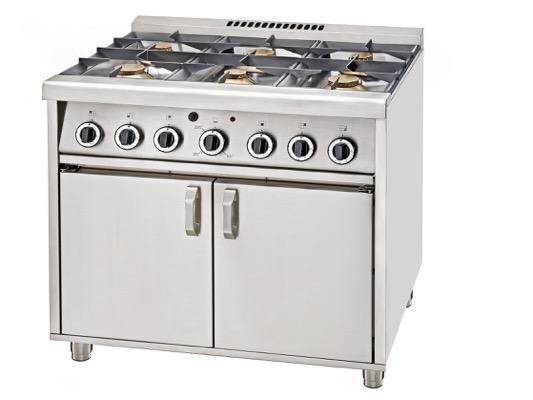 6 Ring Burner & Oven
