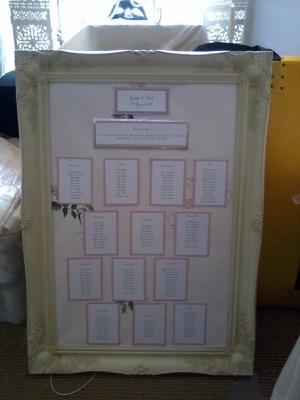 Cream Table Plan Frame
