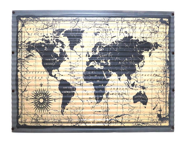 World Map (Tin) - R155.00