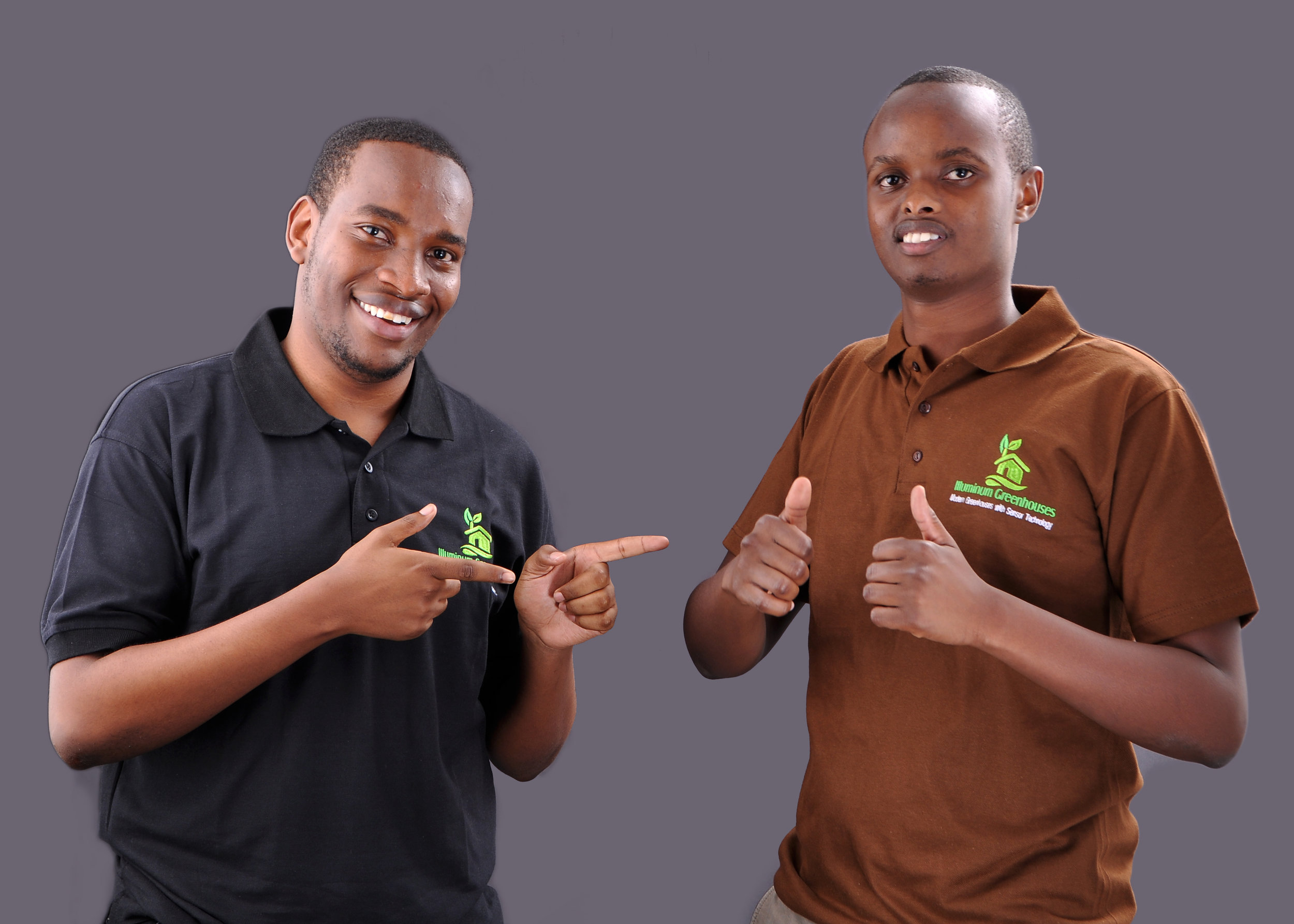 Taita Ngetich (Left) with his co-Founder Brian Bett.