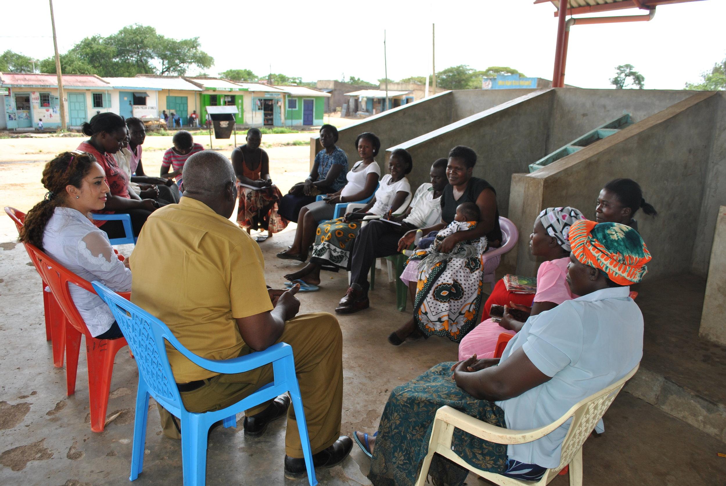 Cherehani Africa tailors group meeting in Aram market in Rarienda Constituency