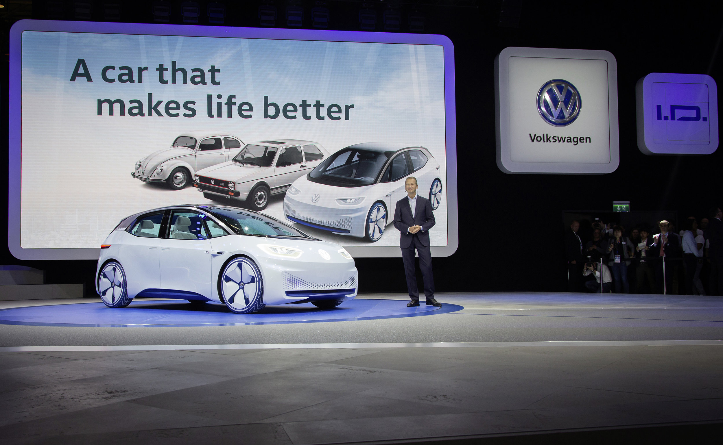 """On September 29th at 8.00, Volkswagen presented their newest additions to the product range. Amongst other things, the study """"I.D."""" which is being announced as revolutionary as the beetle and the golf years ago.  Nitro Booking was responsible to add the soundtrack to the press conference including music and off voices / voiceovers. The complete recording of the press conference is available on the following link: VW press conference paris 2016"""