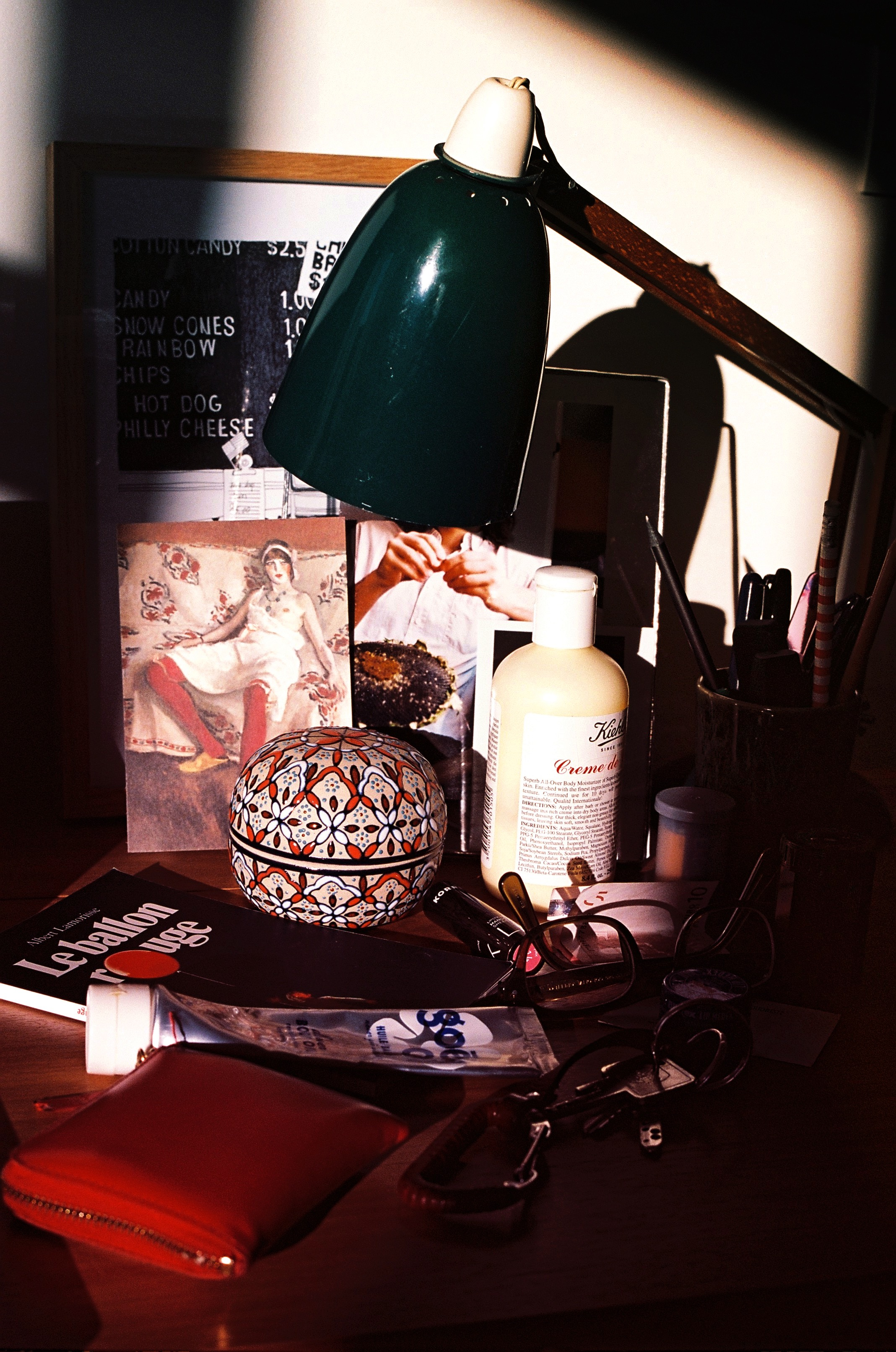 The late afternoon sun hitting my desk.jpg
