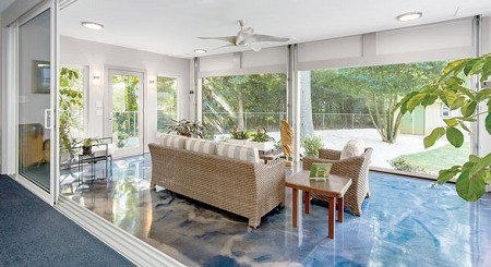 Photo courtesy of Outdoor Living Roomz | Bring the outdoors in with this addition by Outdoor Living Roomz, which features full-view garage doors that disappear into the ceiling.