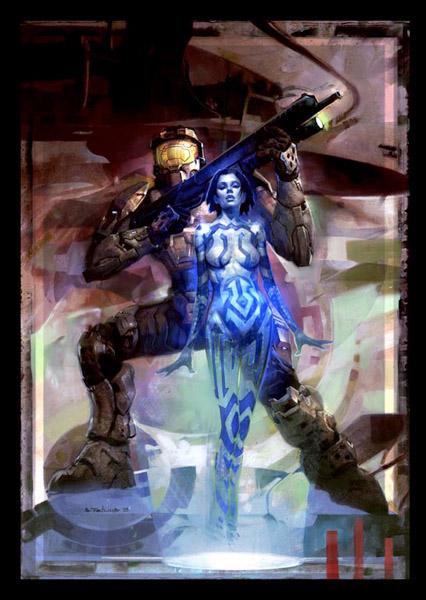 Cortana and Master Chief, Halo Graphic Novel