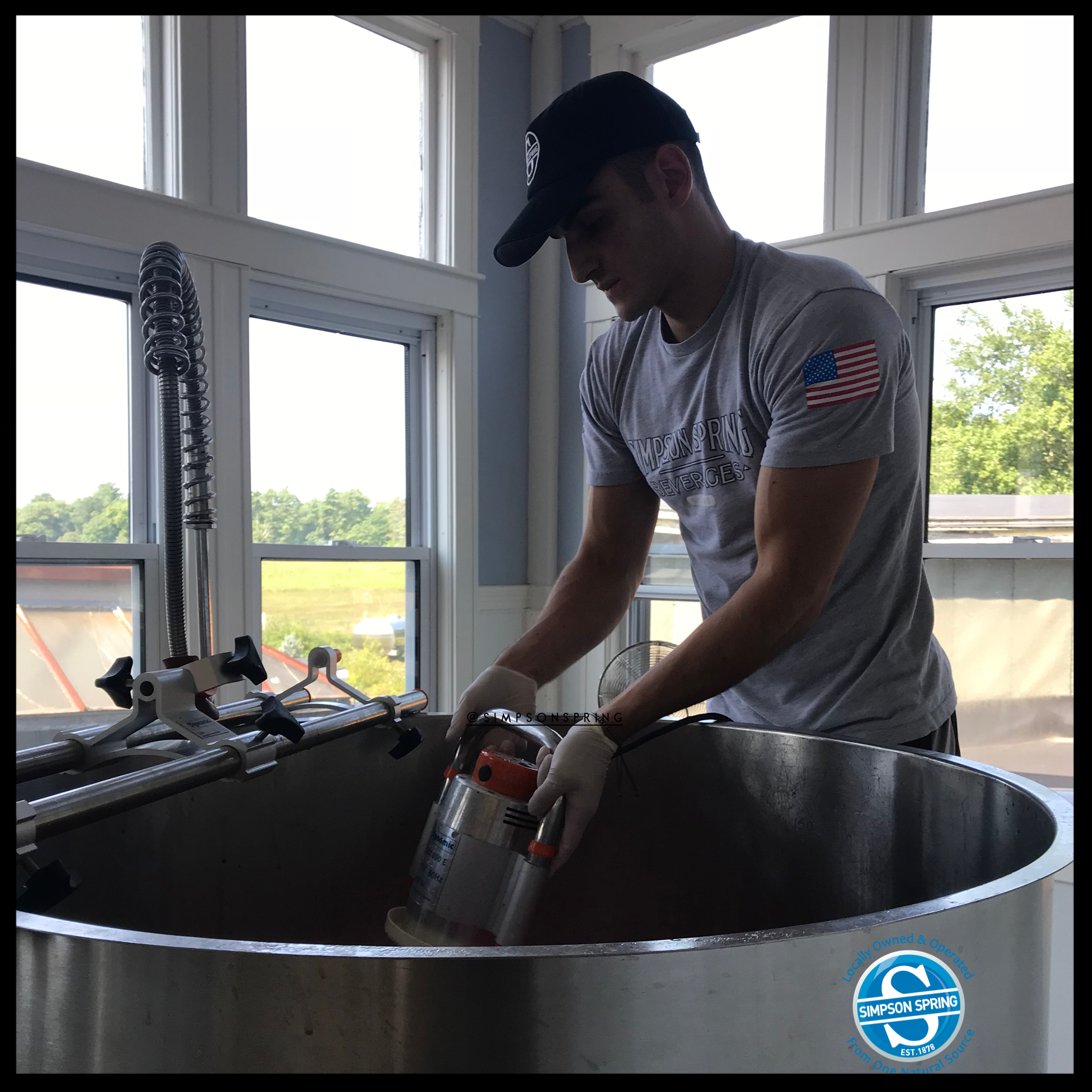 All of our soda is hand mixed by Matt (pictured) and Jim Bertarelli. They hand-make the extract from scratch, and add carbonation, and of course, spring water.