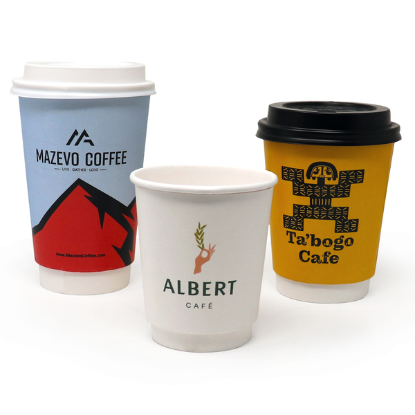 Put a Stamp In Your Clients' Minds With Our Branded Double Walled Cups!