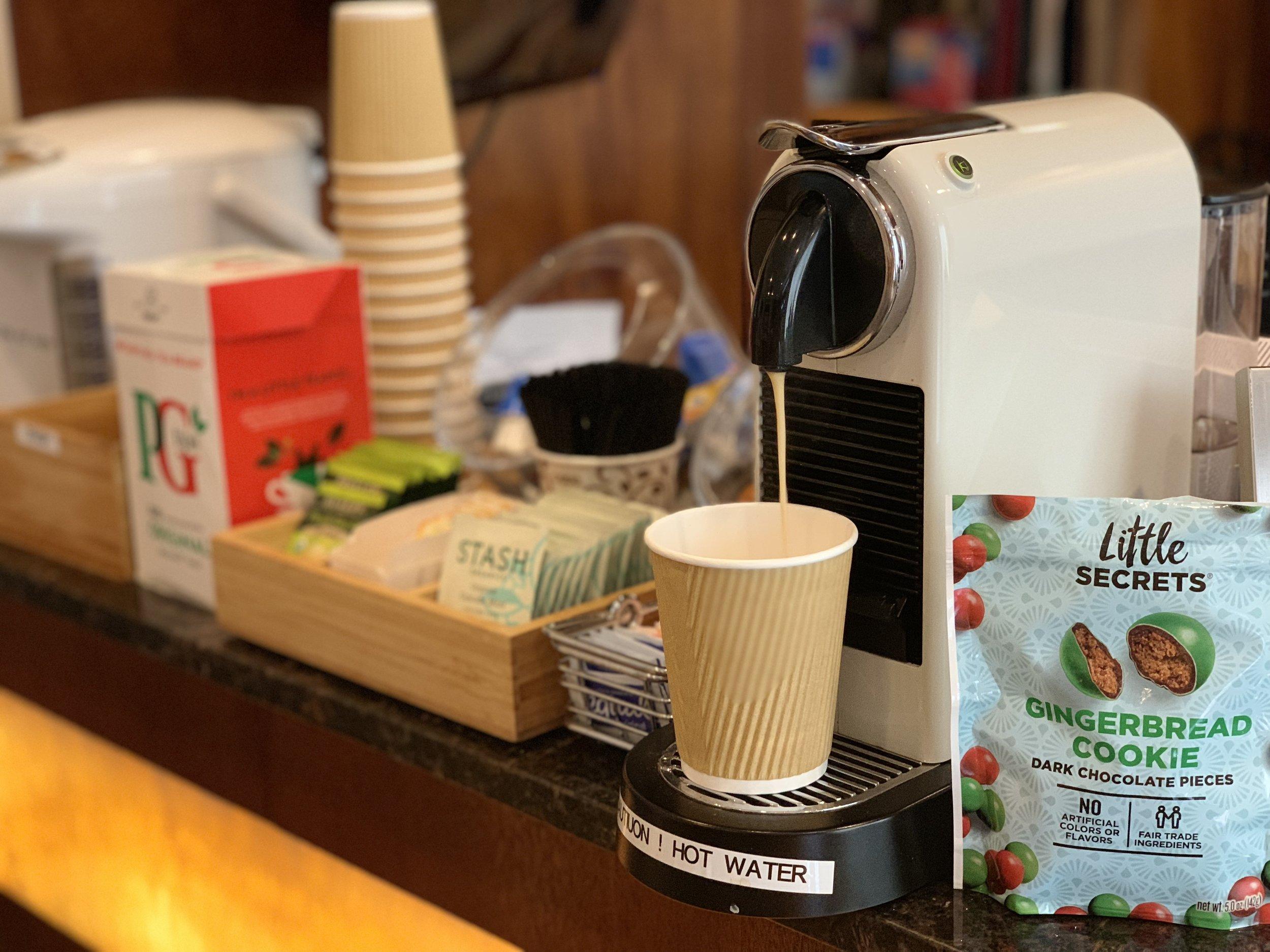 Grab a shot of Espresso before you go