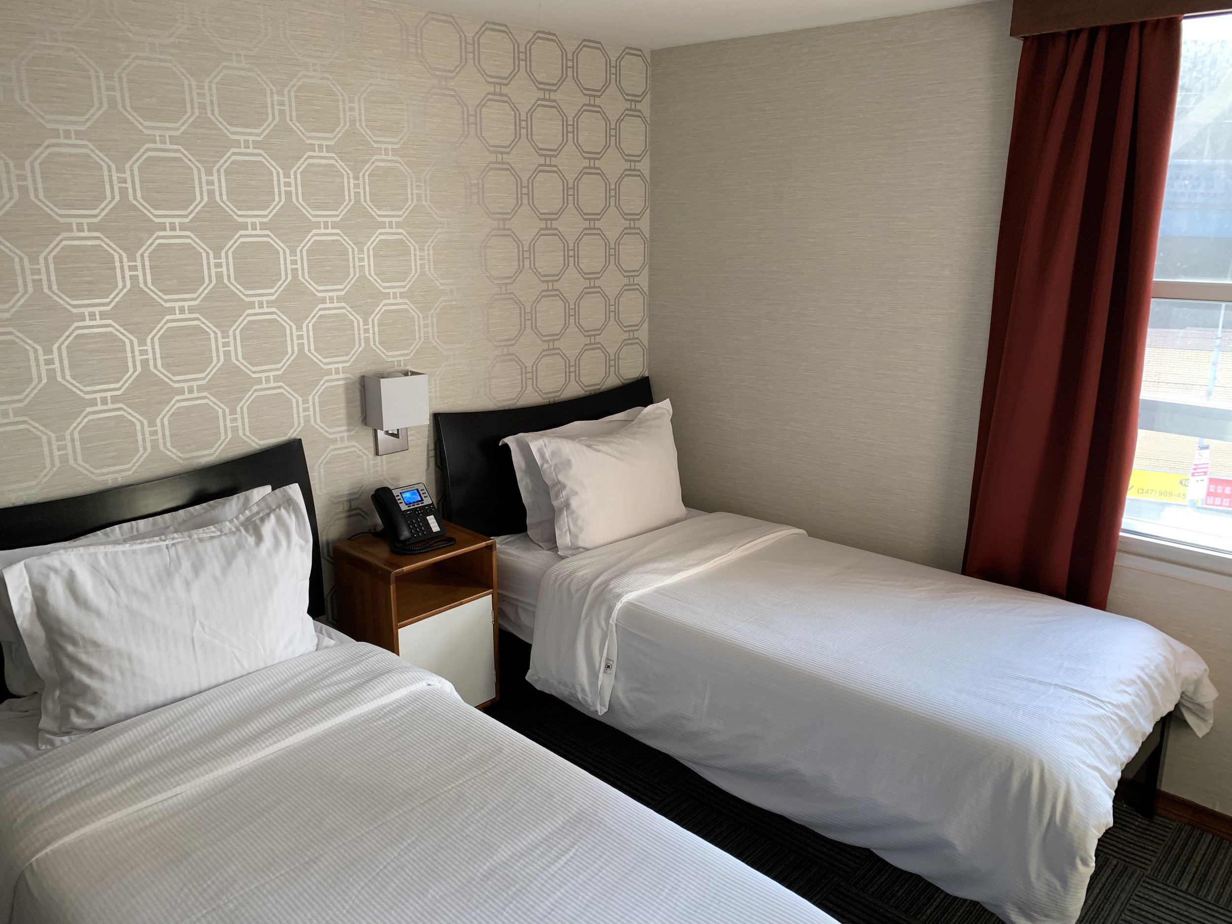 Our Twin Room, very spacious and accommodating