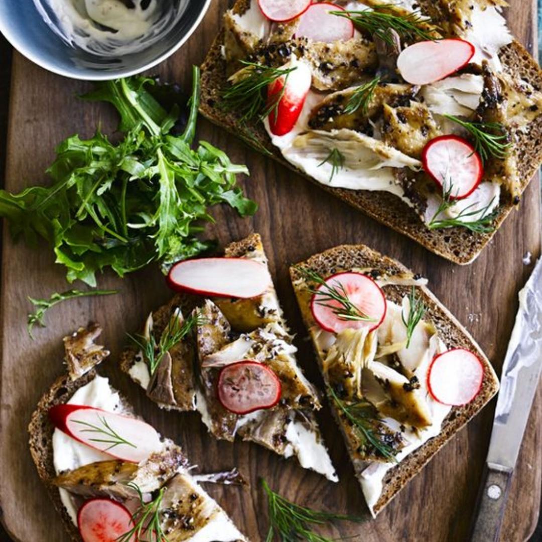 5. Smoked Mackerel with Horseradish Cream and Pickled Radishes - by Olive Magazine