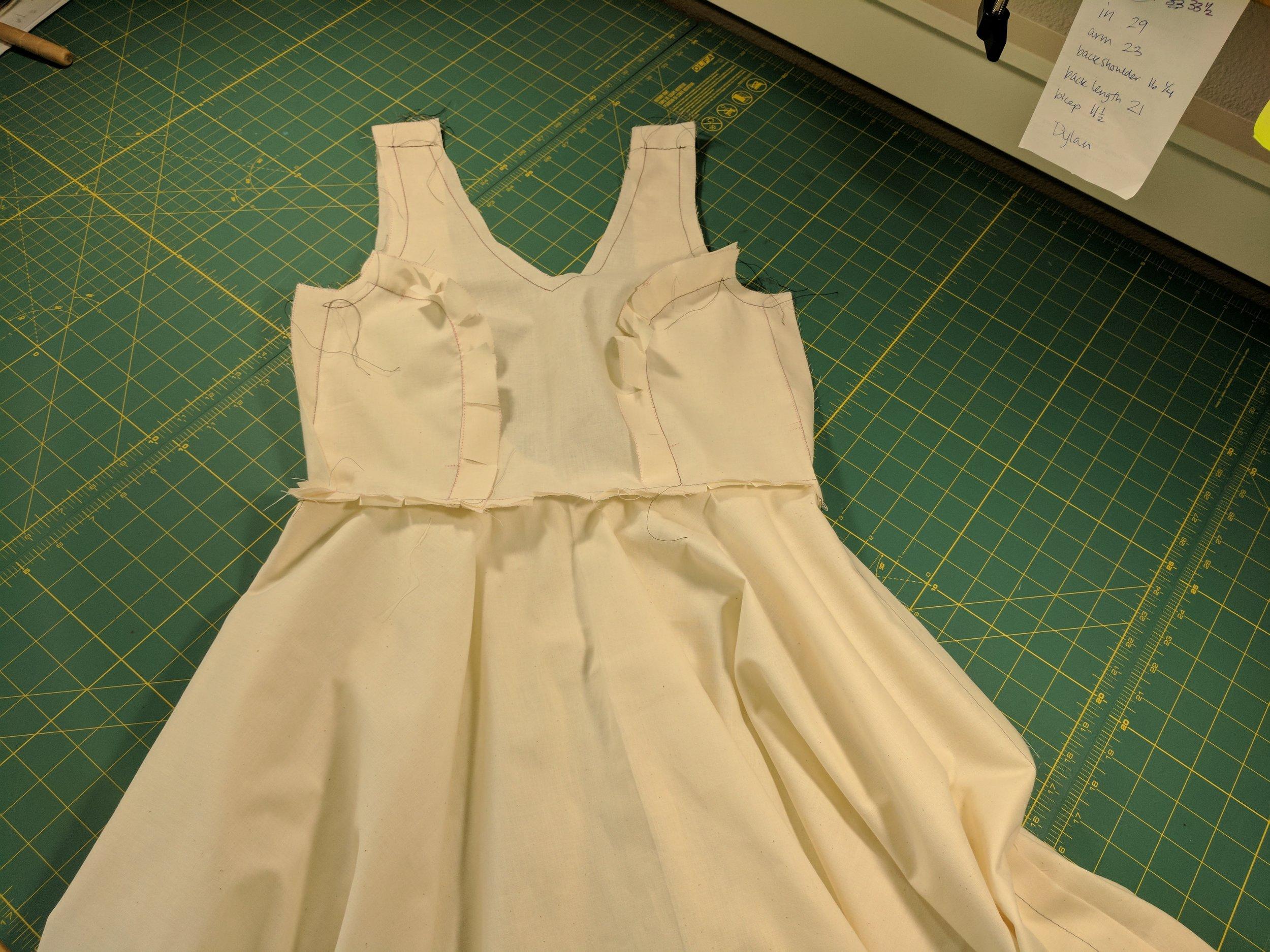 Wedding dress toile