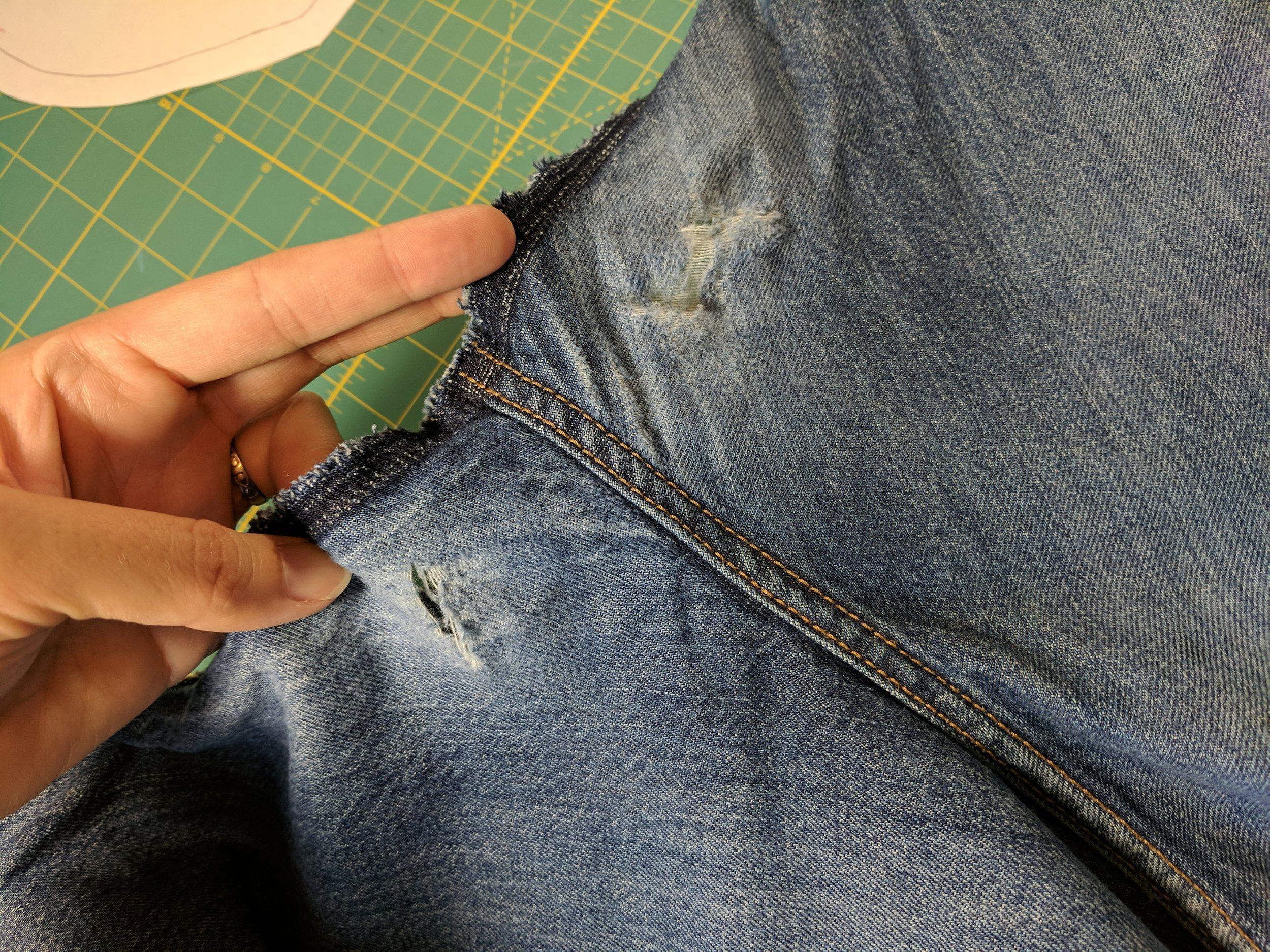 jeans inseam repair