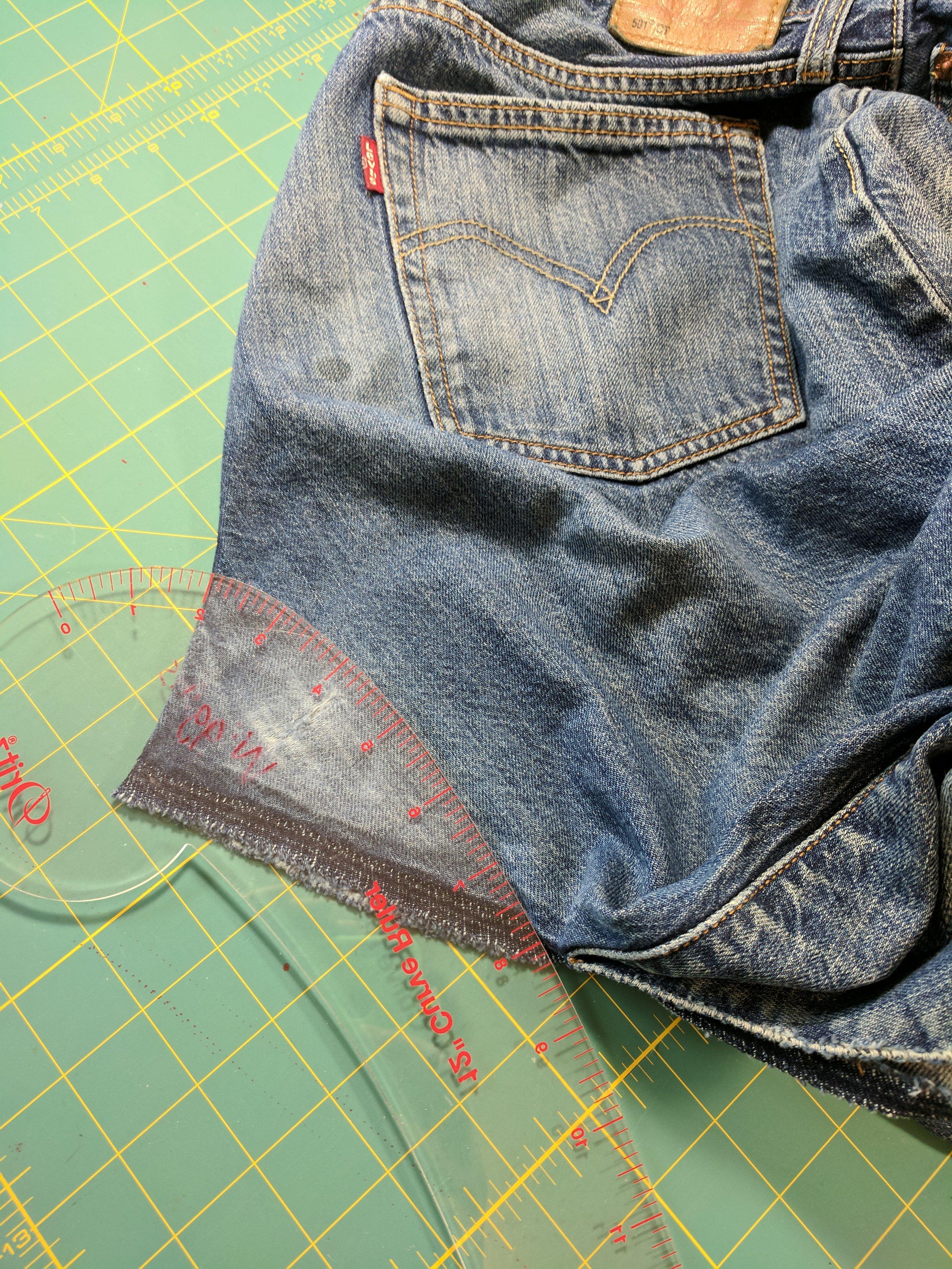 jeans gusset insert repair