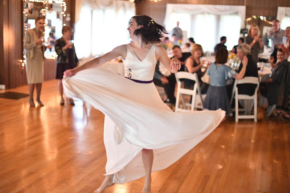 wedding dress silk