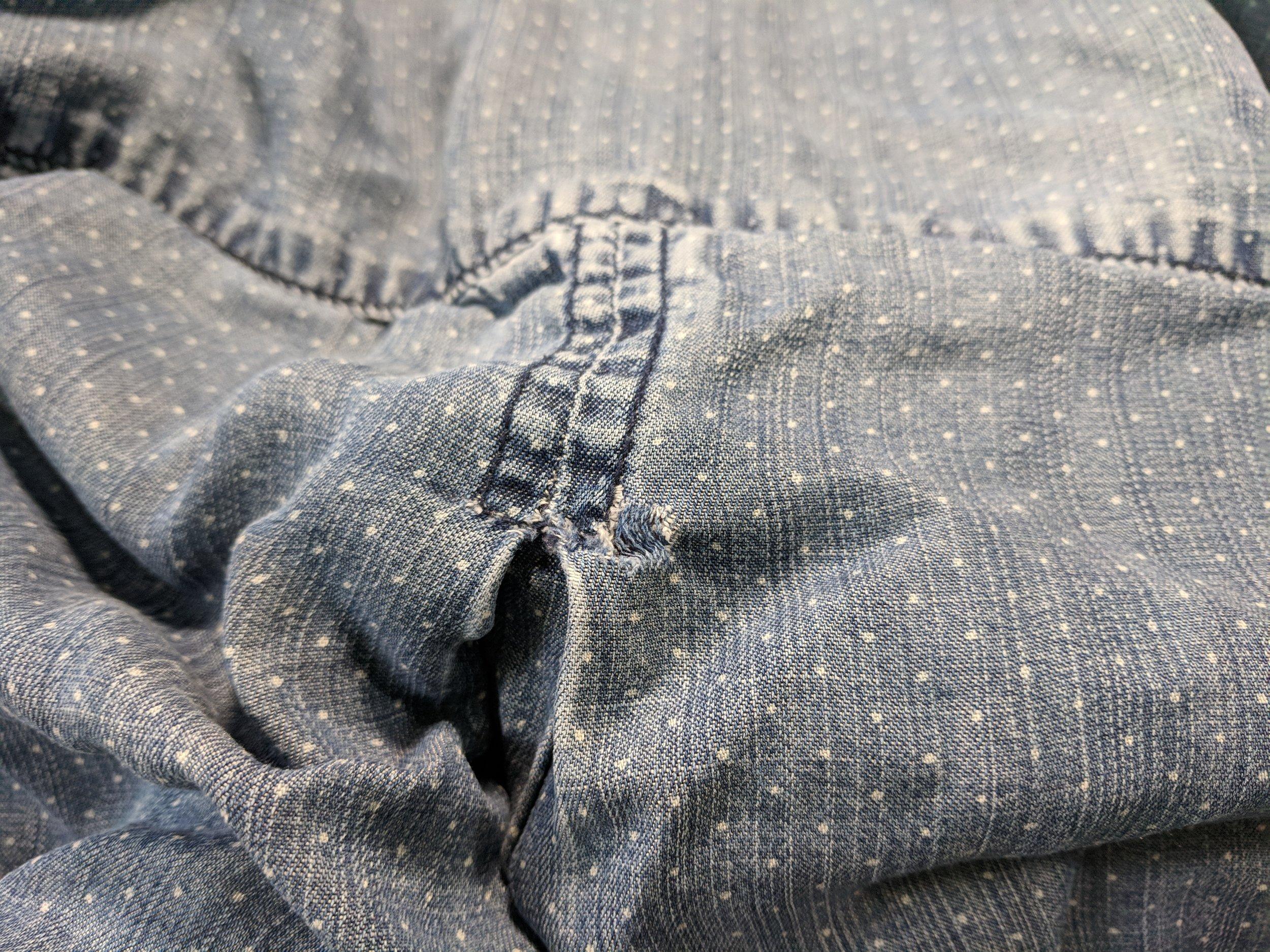 patch hole shirt
