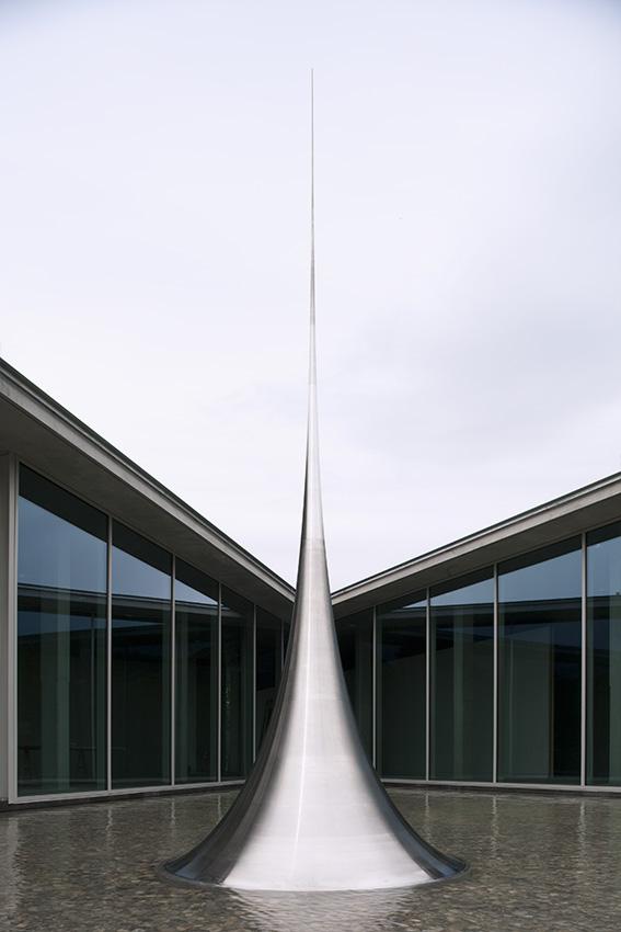 Mathematical Model 012, Surface of Revolution with Constant Negative Curvature,     Château La Coste,  Le Puy -Saint -Réparade, Provence, 2010 -