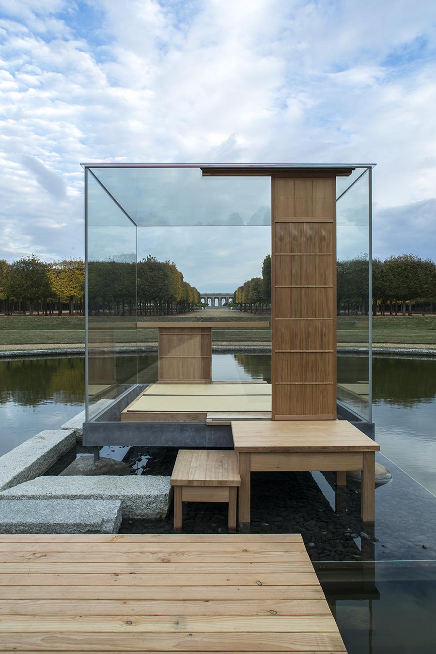 glass tea house  Mondrian,  Versailles