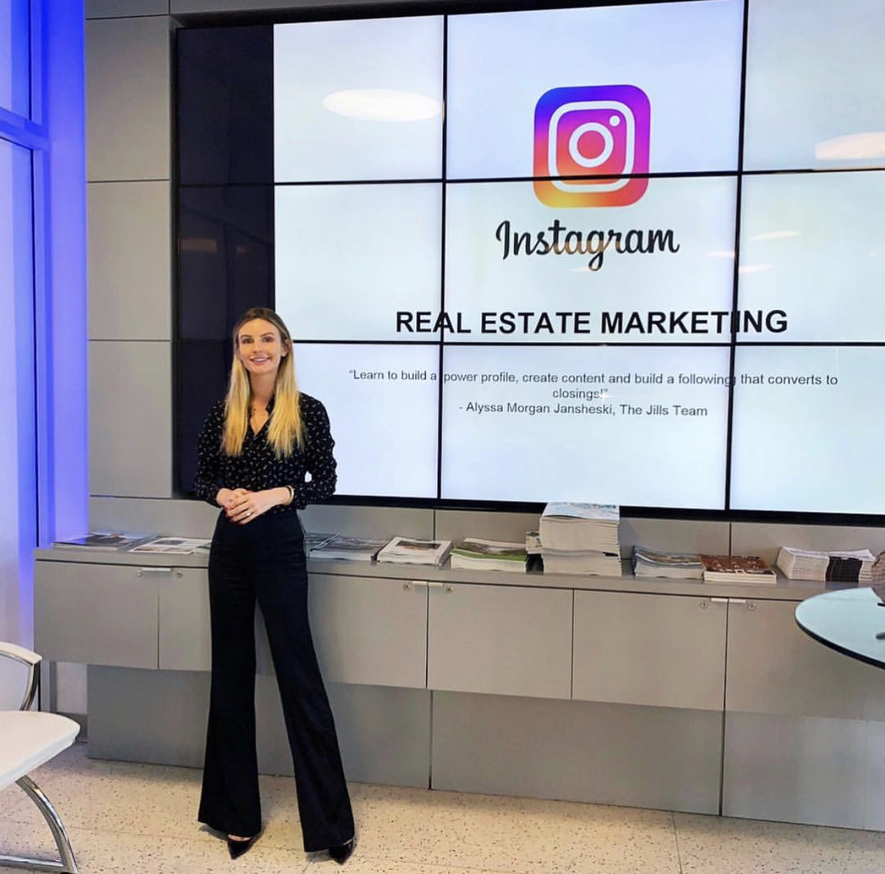 alyssa's social media marketing for real estate professionals class