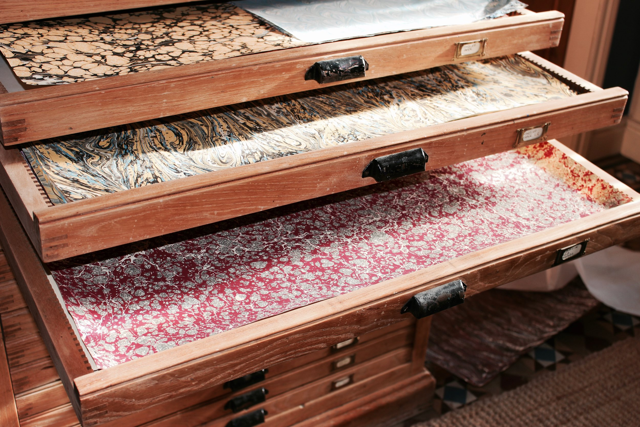The history and  process of marbling