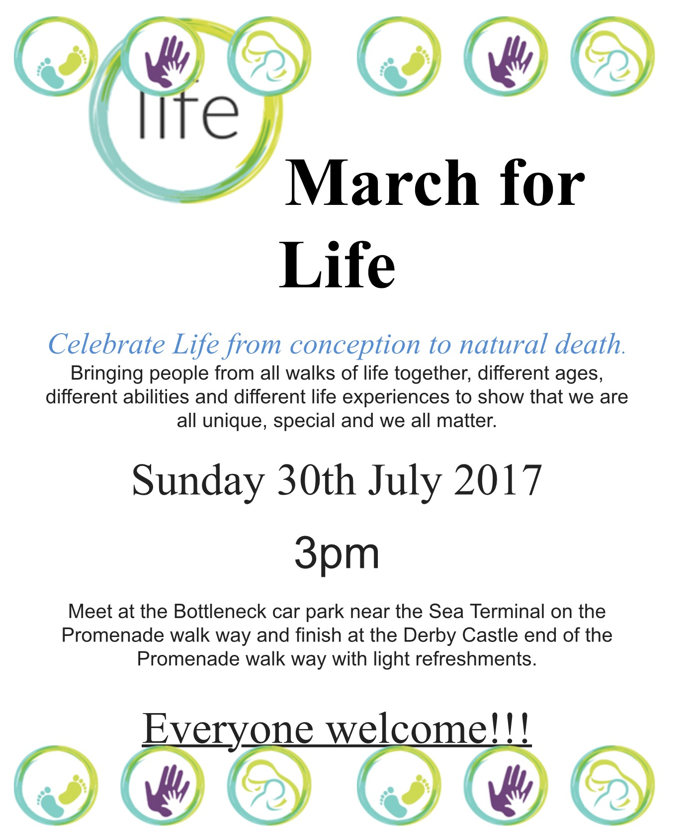 Event flyer, from the Life charity.