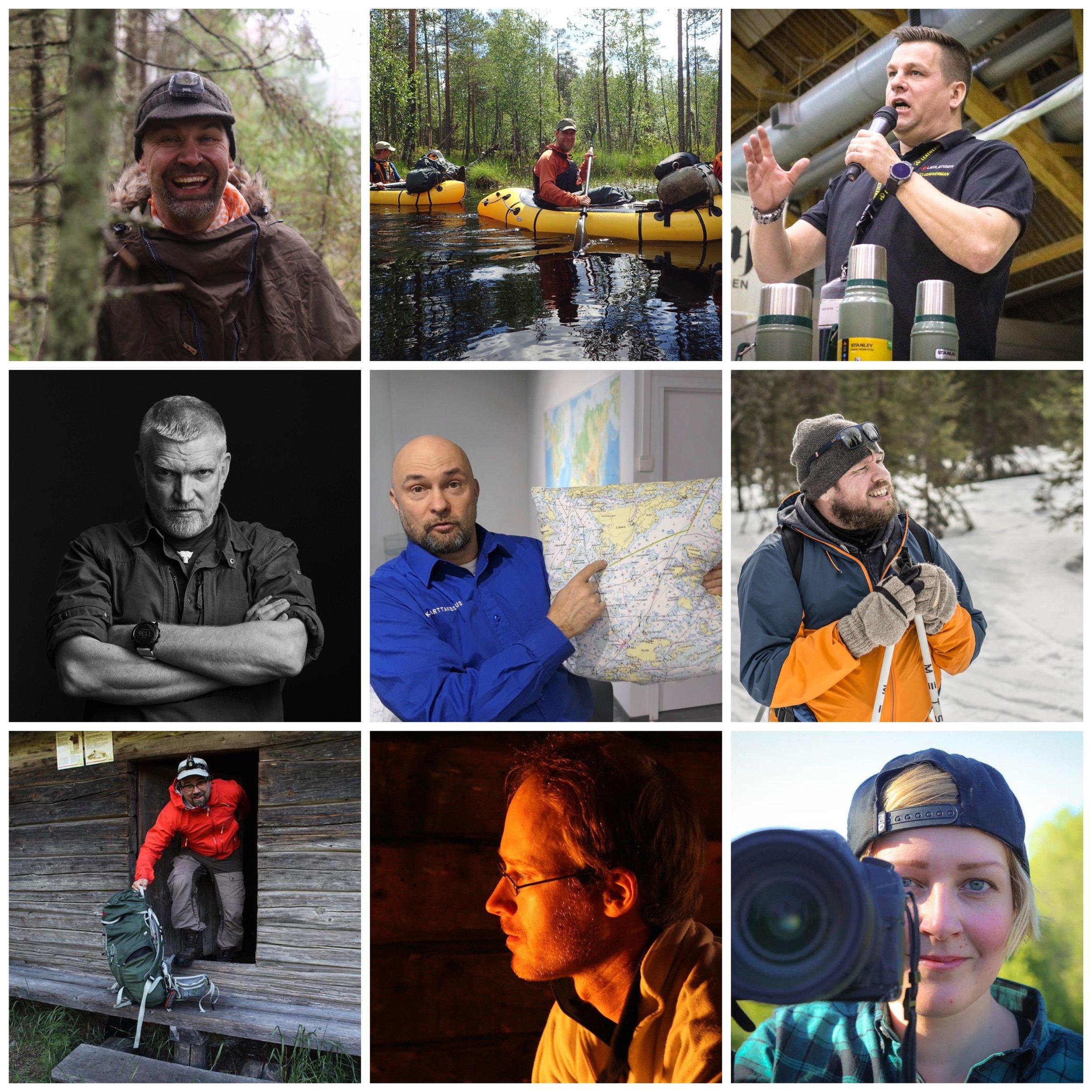 Skullman, Korpi-Jaakko, Mikko, Pata, Jaska, Pepe, Joel, Jouni ja Marinella.