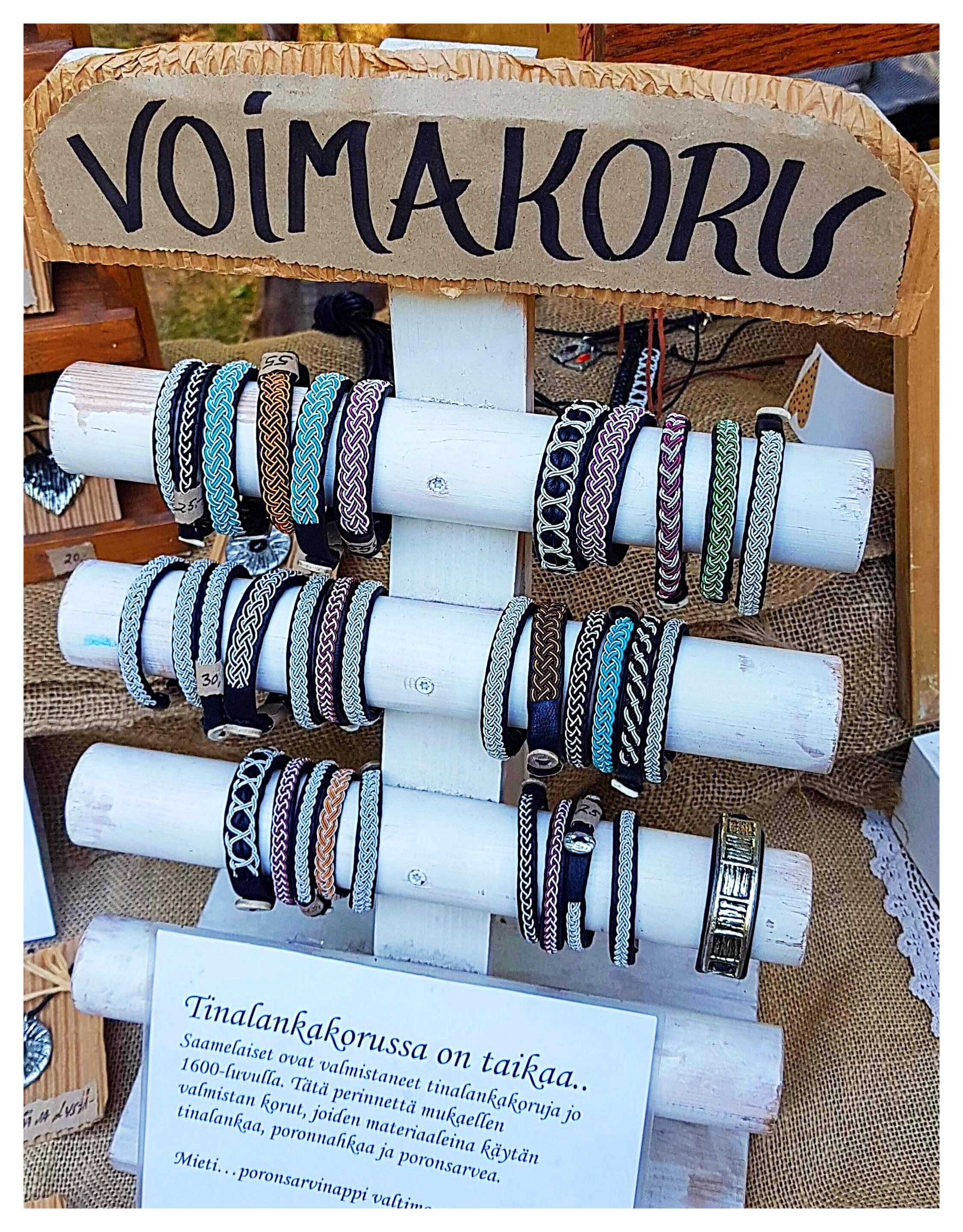 Saamelaistyyliset korutkin olivat löytäneet markkinakojuun.