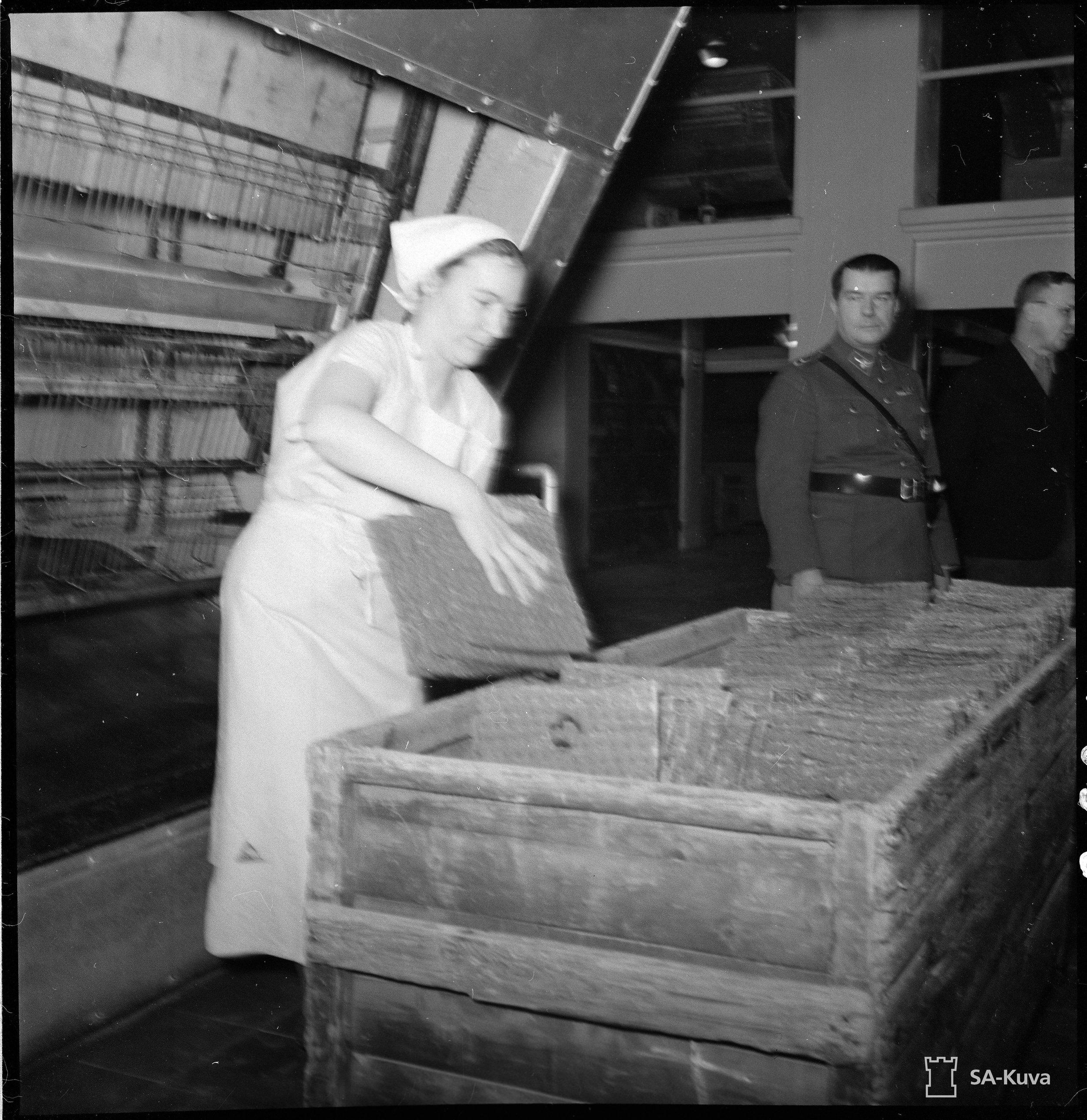 Sota-aikaista leipää. SA-kuva.