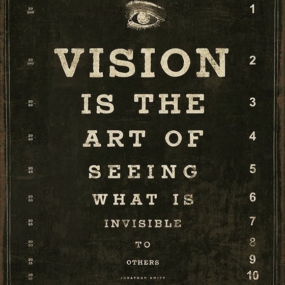 Vision is the art of seeing what is invisible to others. • • • • • #coronavision #optometrist #queensnyc #yonkersny #eyecare #eyedoctor #visionterapy #visionmatters @coronavision