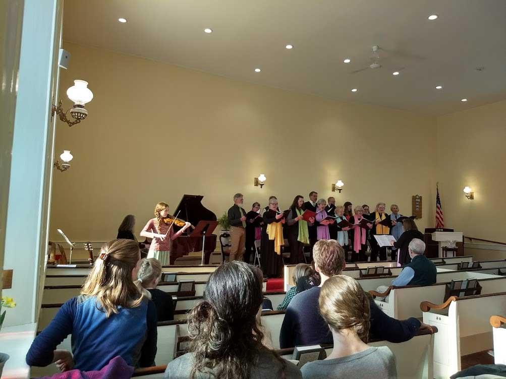 Peace Choir with violin Spring Equinox 2018