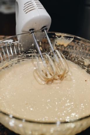 Cake mix batter
