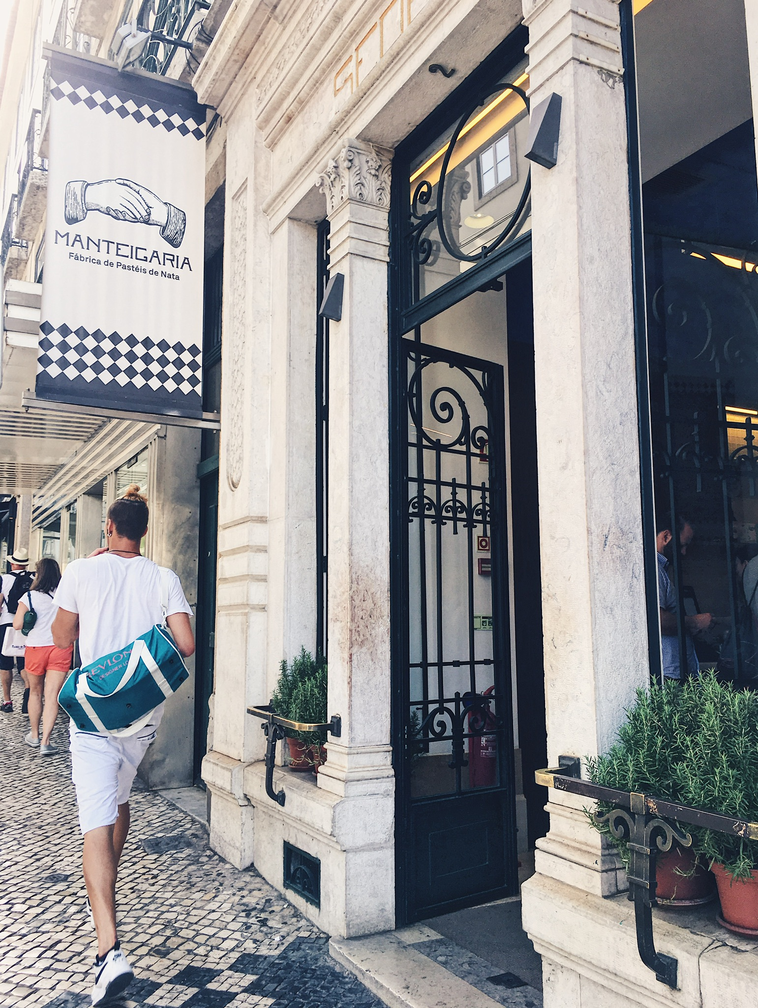 Two things found all over Lisbon: man-buns and pasteis de nata