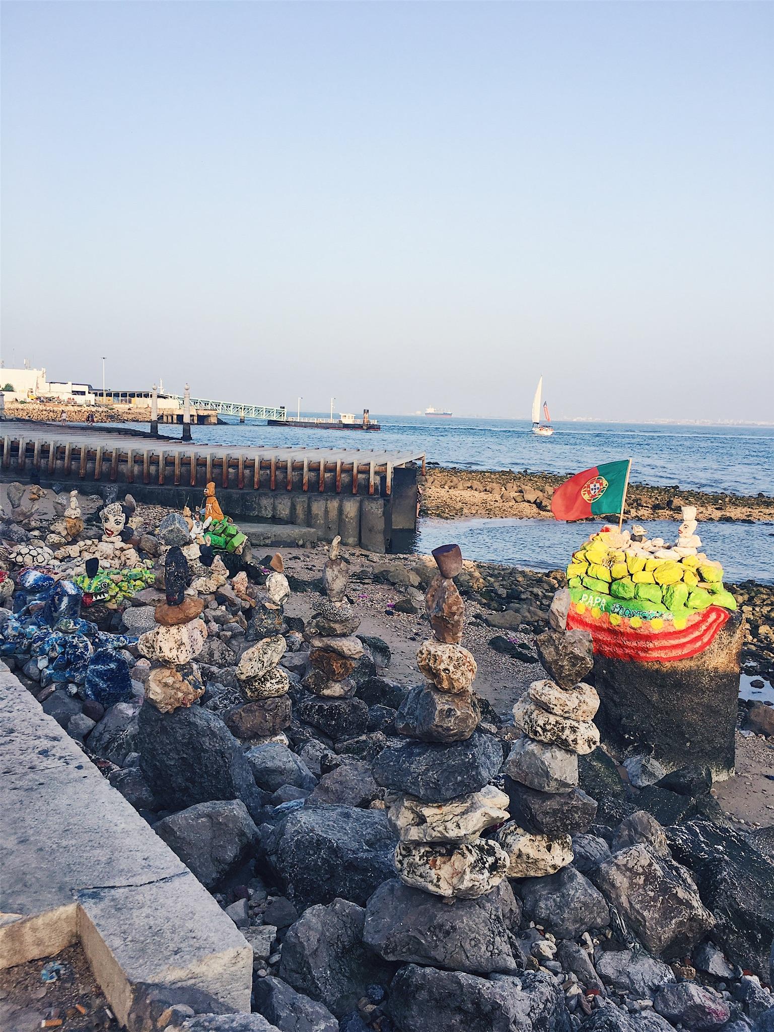 Rock art along Lisbon's shore