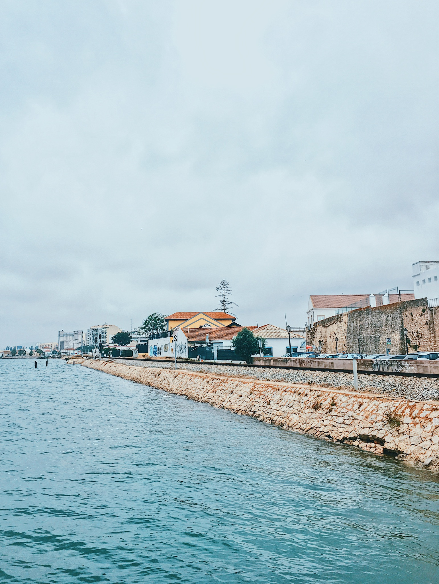 View of the town from the ferry dock