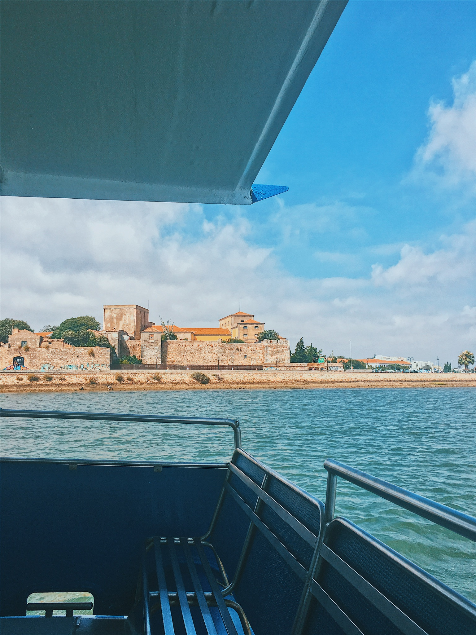 The view of Faro from the ferry, returning back to town