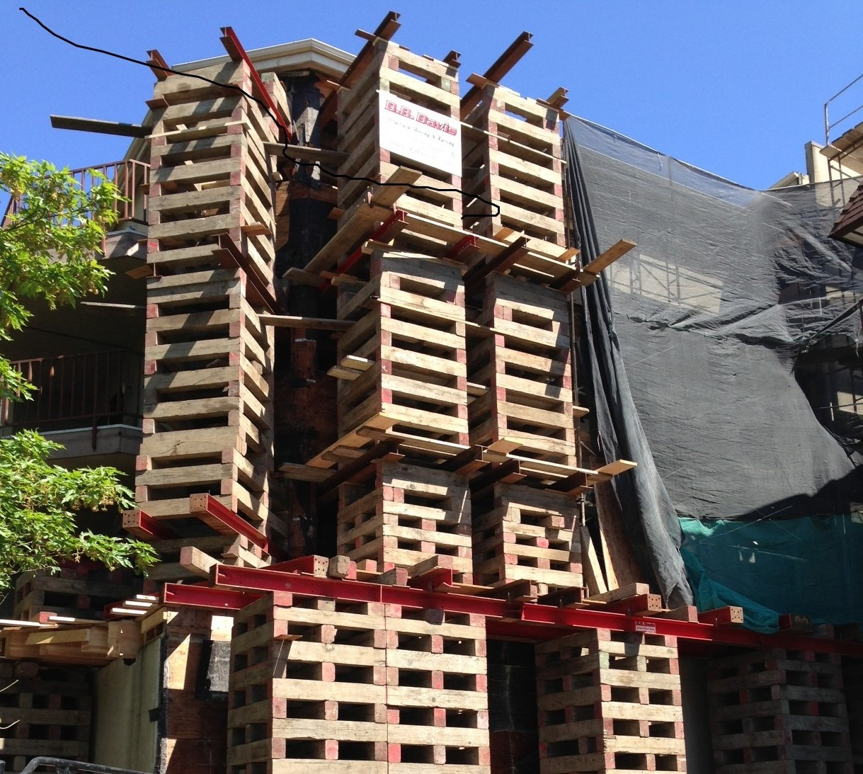 5th Ave NE Hilcrest Apartment Rebuild performed by BSC. Major structural members had rotted through, necessitating careful phasing, shoring, and rebuilding while cooperating with resident tenants.