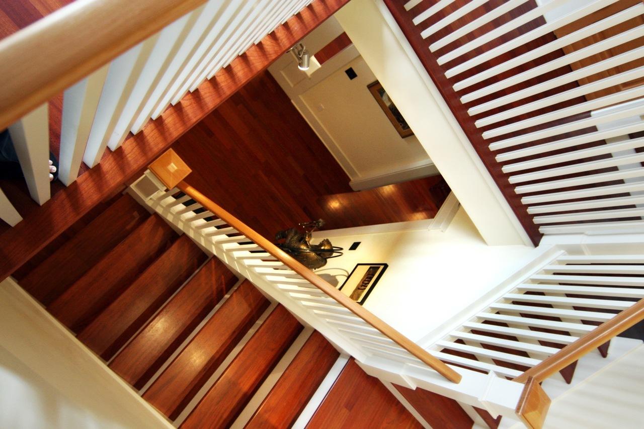 Greenlake Custom Home Stairs Top Down.jpg