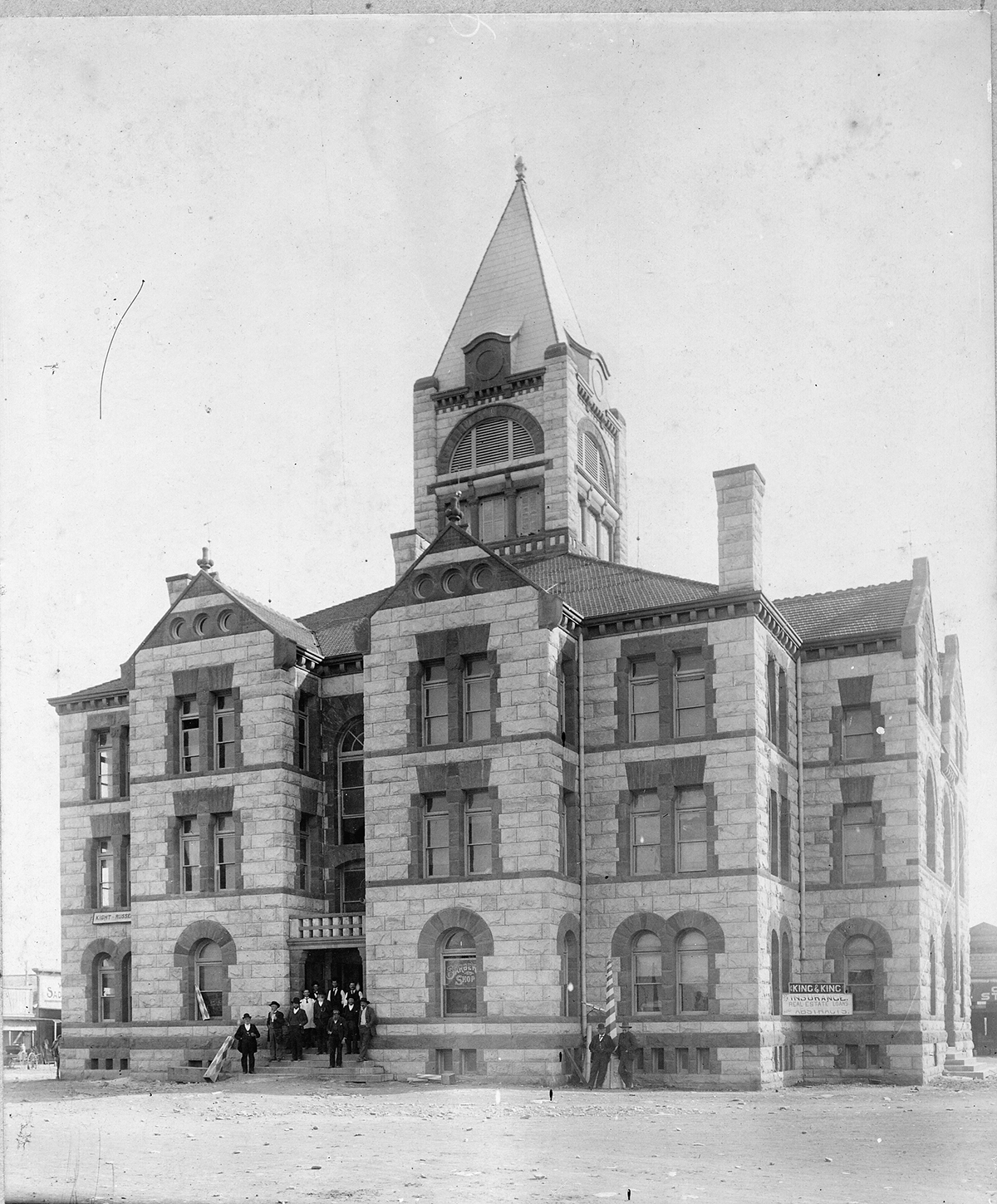 Erath County Courthouse shortly after it was built.