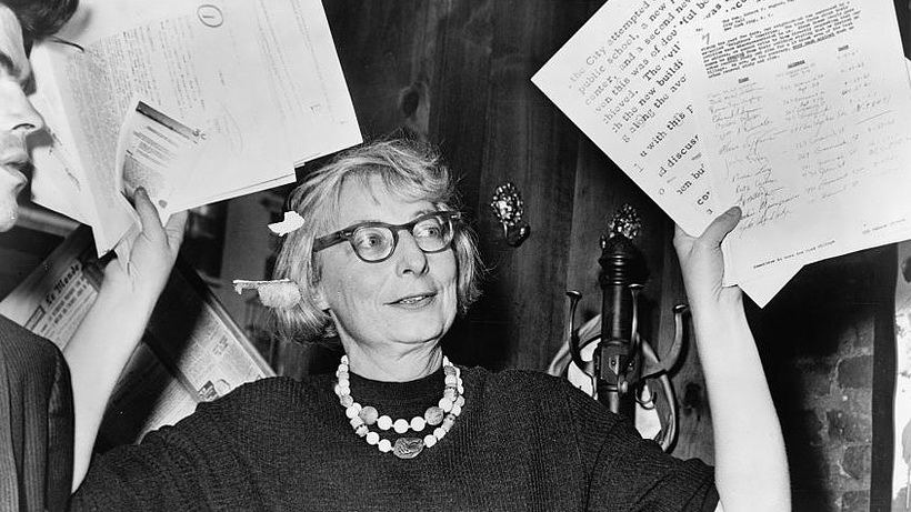 Jane Jacobs, author of  The Death and Life of Great American Cities