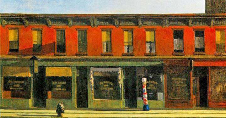 Early Sunday Morning by Edward Hopper, 1930