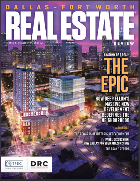 Cover of the Spring 2019 DFW Real Estate Review