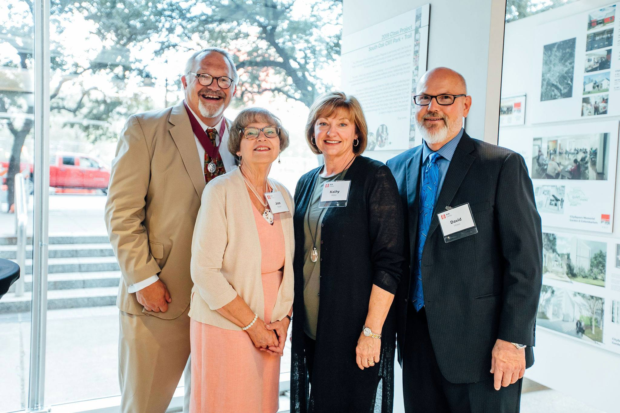 It was important to have friends and family join me at the celebration. Jean Feifer Alston, Kathy Alston Miller and David A. Hines.