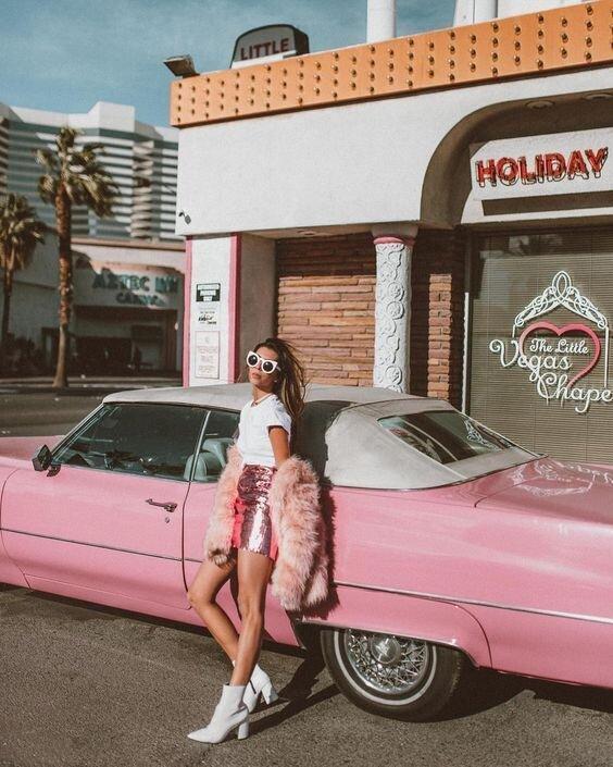 californie-voiture-rose