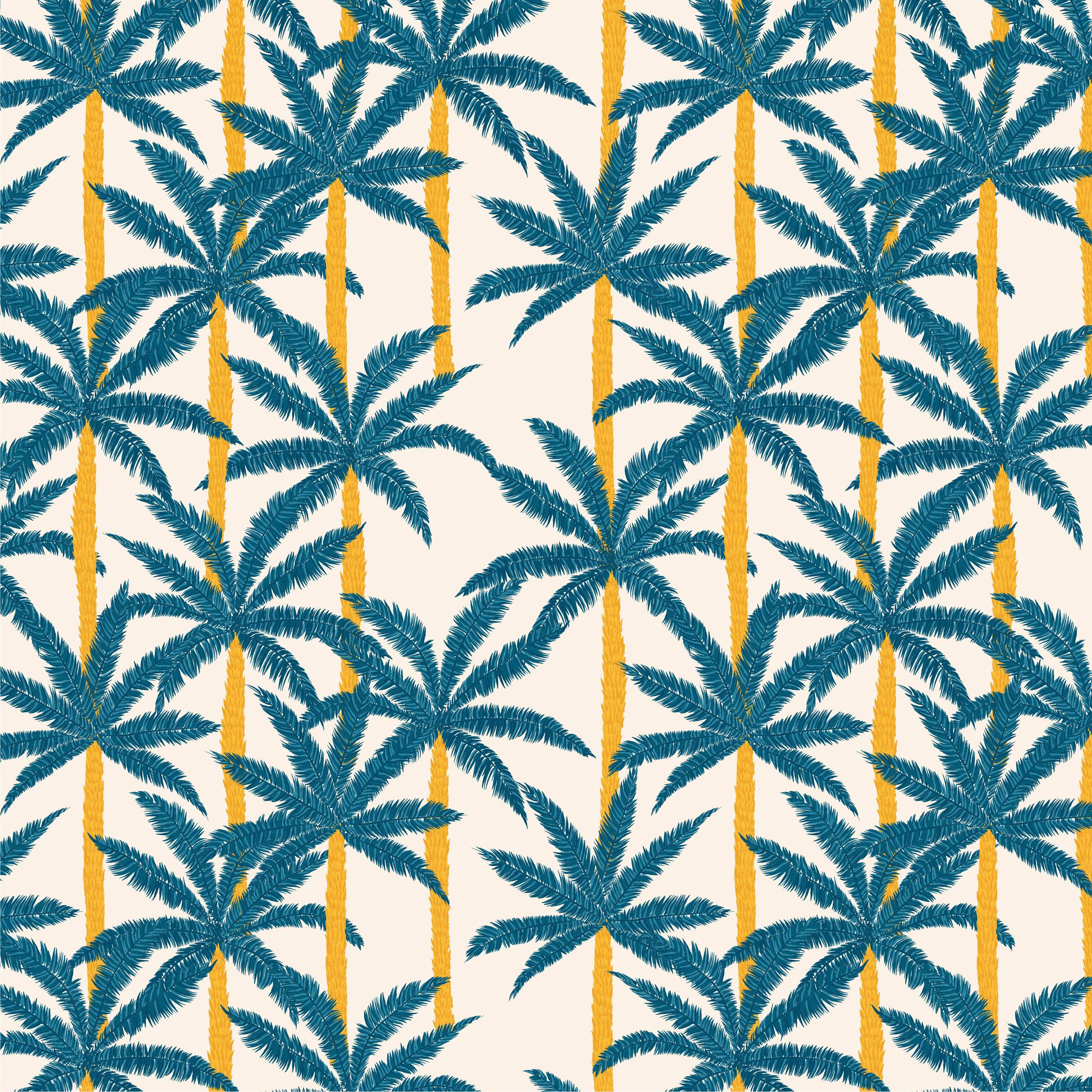 motif-palmiers-bleus
