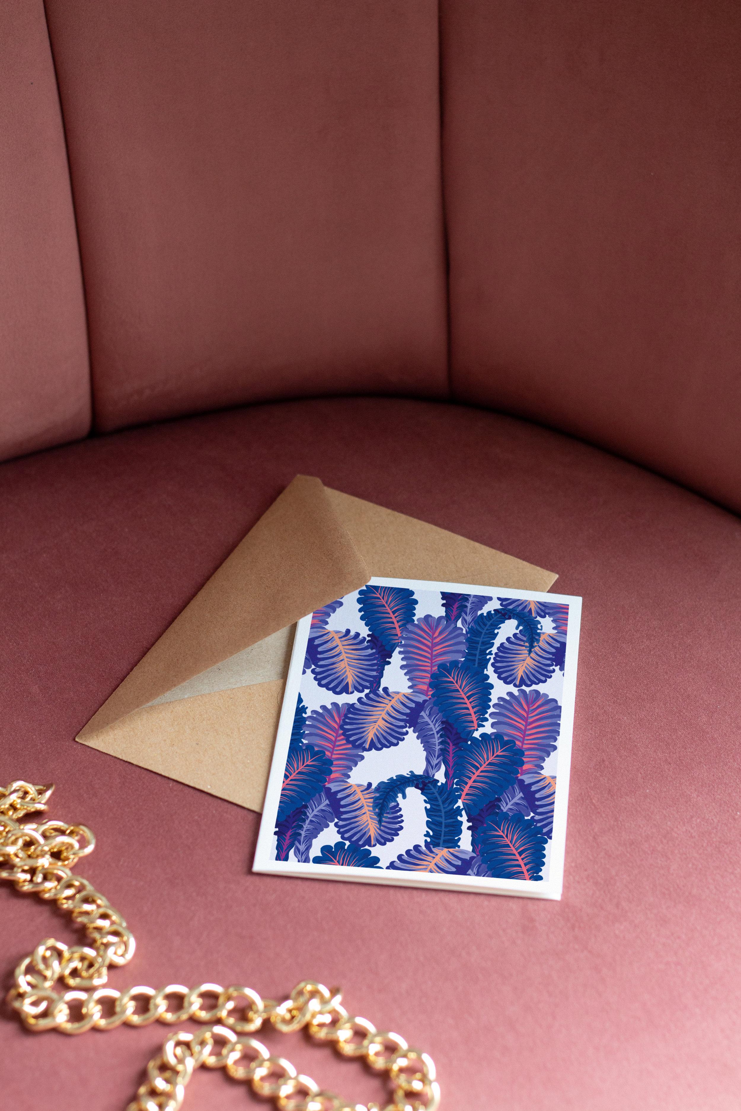 carte-postale-motif-algues-marines
