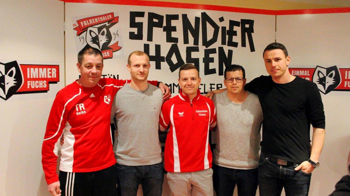 v.l.n.r: Heiko Dräger, Fabian Rosenberg, Jan Reinsberg, Alexander Presch, Steven Herfort