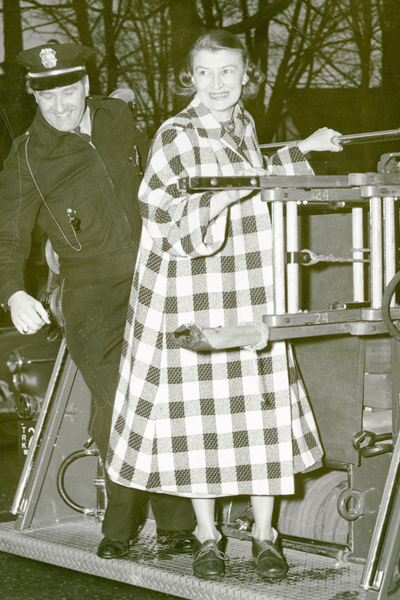 Above: Teagle, while serving on the Woodstock Village Board of Trustees, c. 1948