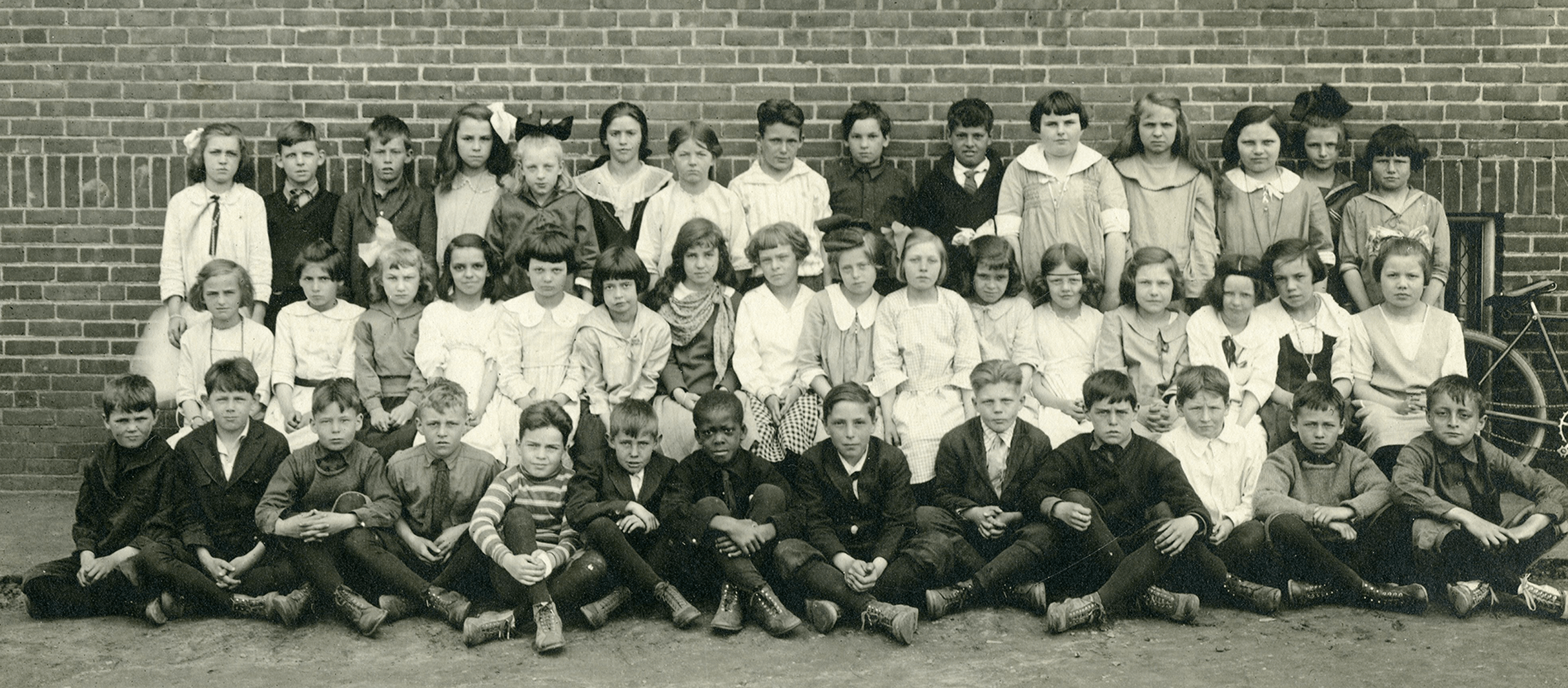 Future class of 1932. Tom is pictured in the first row, seventh from the left.
